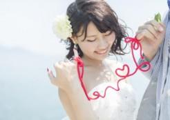 赤い糸でつながれた花嫁