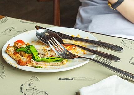 食後のお皿の様子